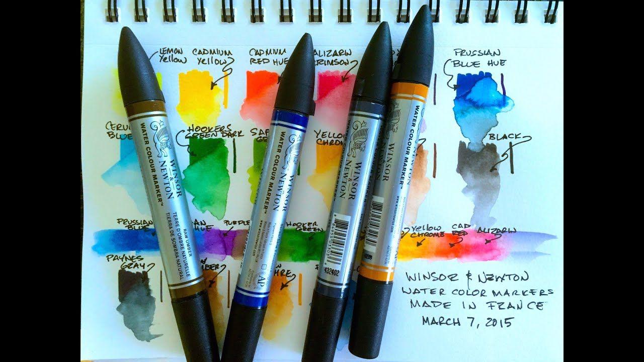 Winsor Newton Watercolor Markers Youtube Watercolor Art