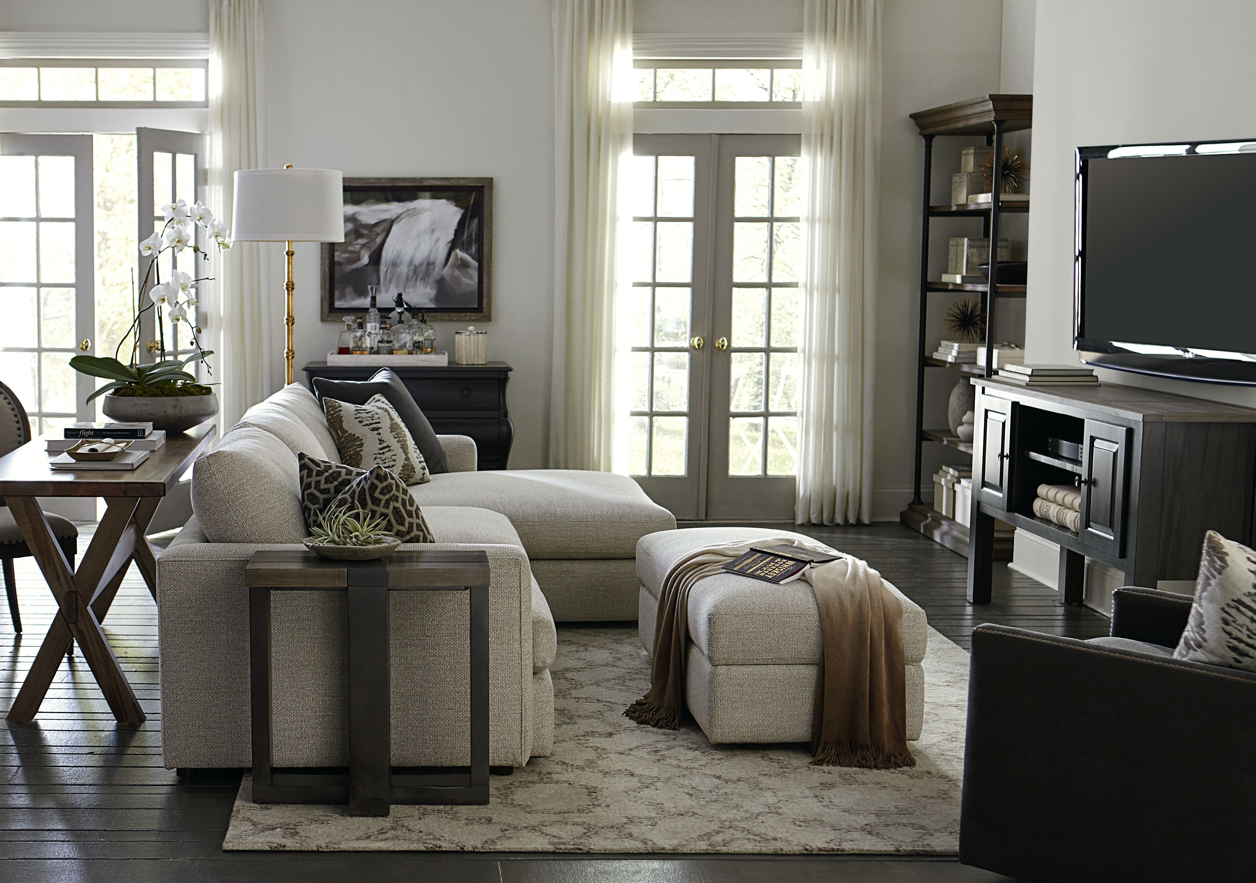 Allure Right Chaise Sectional Living Room Sets Bassett