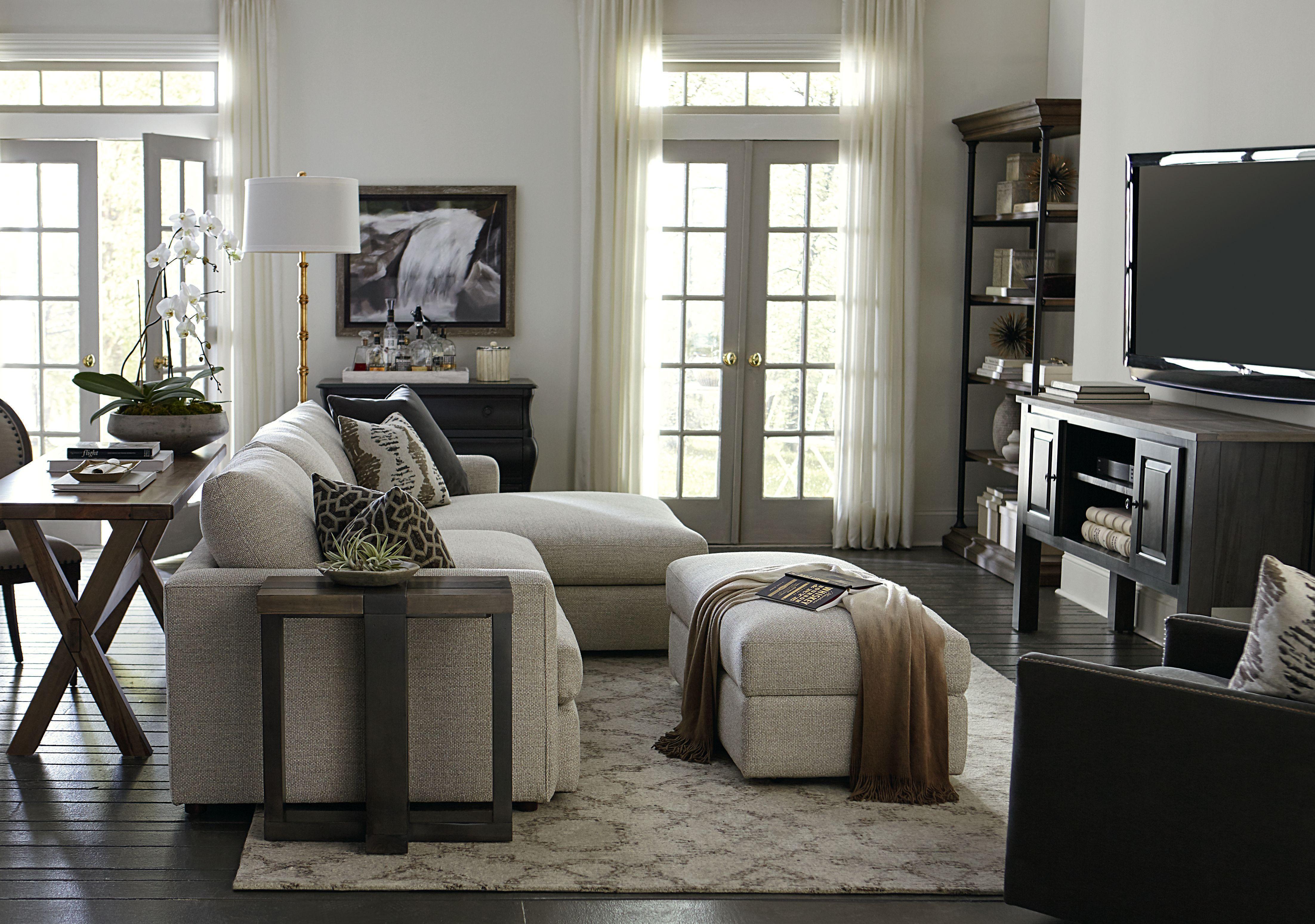 Allure Right Chaise Sectional Bassett Furniture Living