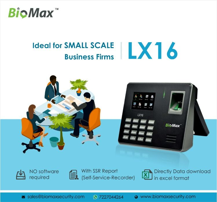 LX16 : Fingerprint Time & Attendance System Fingerprint