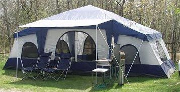 Attrayant Deluxe 4 Room Cabin Tent 24u0027x10u0027 | Large Camping Tent | Sleeps 12