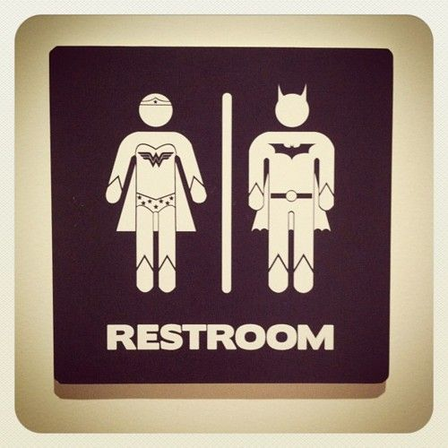 Of The Most Fabulous Gender Neutral Bathroom Signs Superhero - Gender neutral bathroom signs