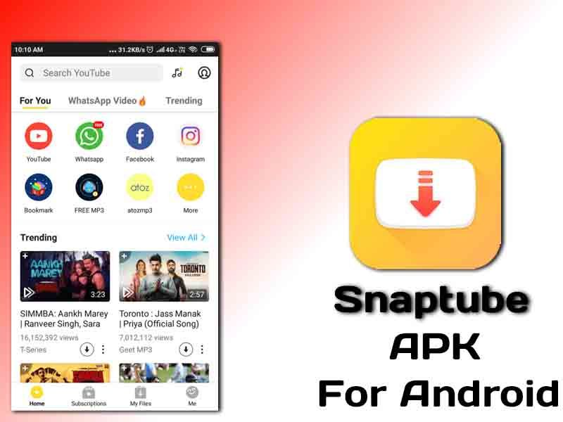 Snaptube apk download 2019 latest version | Search video, Play the video,  Android one