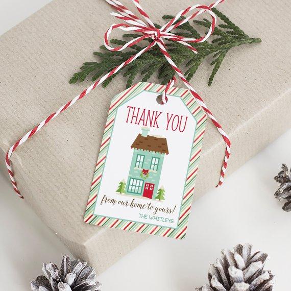 9aecaa9b620df Editable Christmas Gift Tags, Printable Holiday Tags Template ...