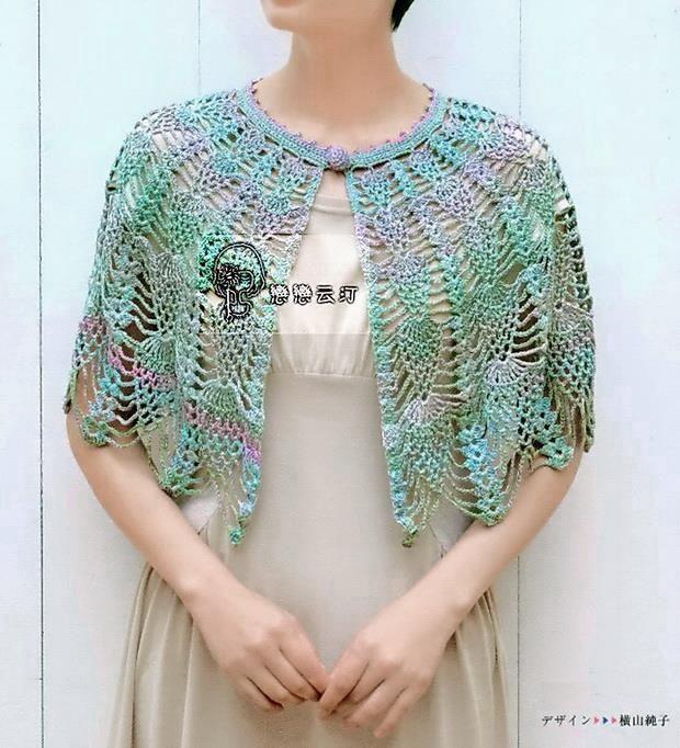 Crochet Lace Cape For Women In Summer (Crochet Shawls)