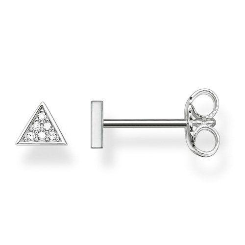 Thomas Sabo Triangle White Diamond Stud Earrings N82kDnrW