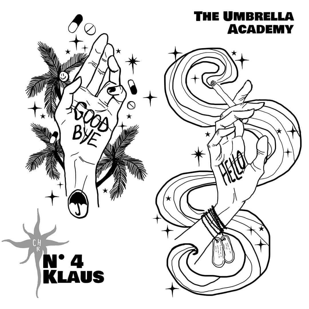 Number 4 Klaus Hargreeves The Umbrella Academy Grigiochiara Klaushargreeves Number4 Theumbrellaacademy Fa Umbrella Klaus Umbrella Emoji