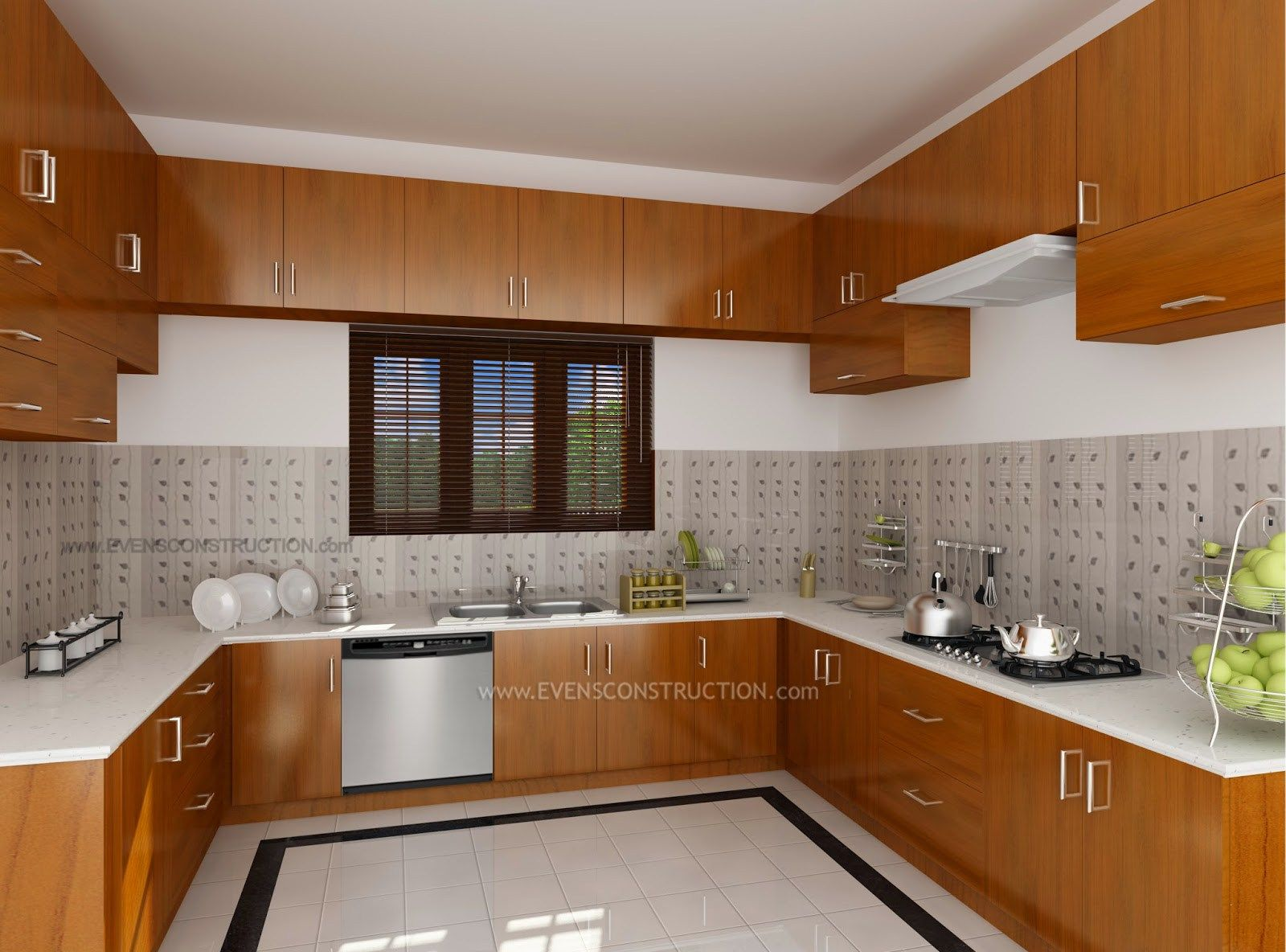 Design interior kitchen home kerala modern house kitchen for Kitchen interior design india