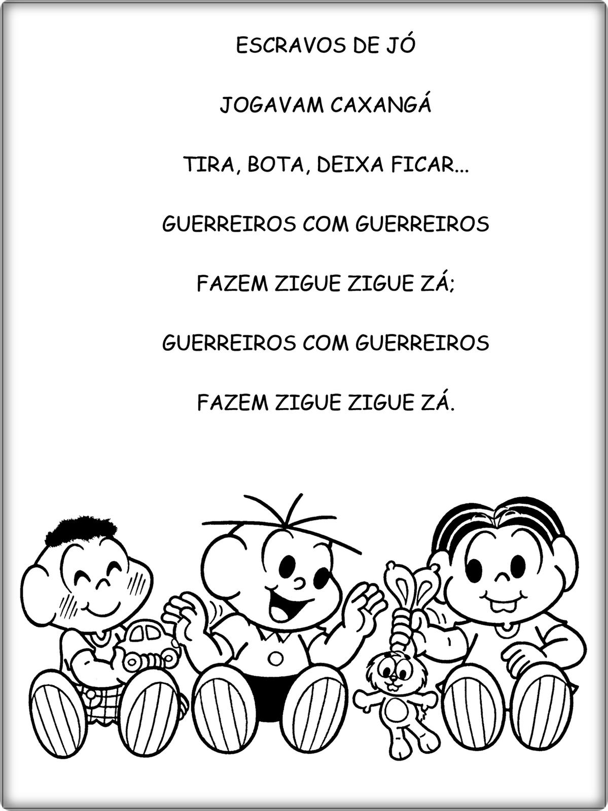Well-known ESCRAVOS+DE+JÓ - Texto para leitura | escola infantil | Pinterest  IJ86