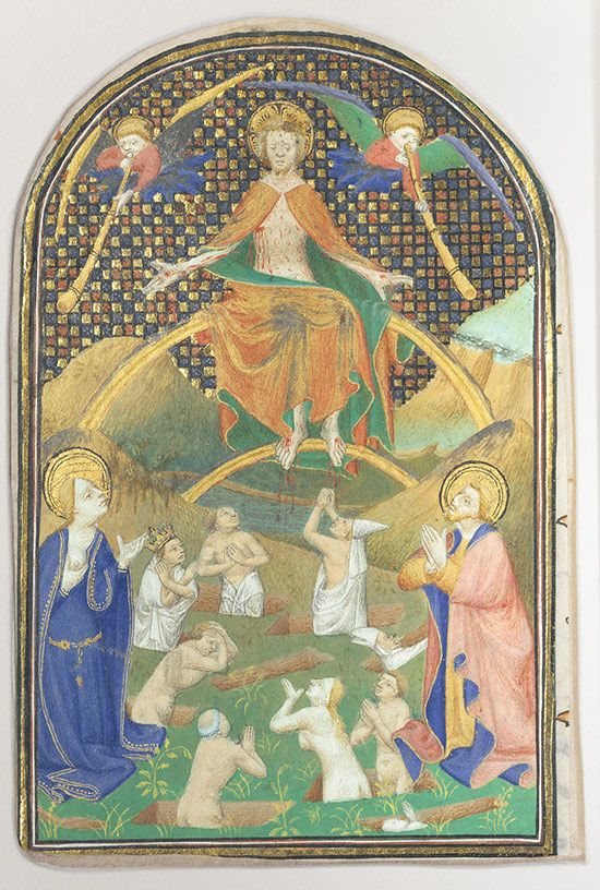 Manuscript Leaf With The Last Judgment From A Book Of Hour Medieval Art History Dissertation Binding Manchester