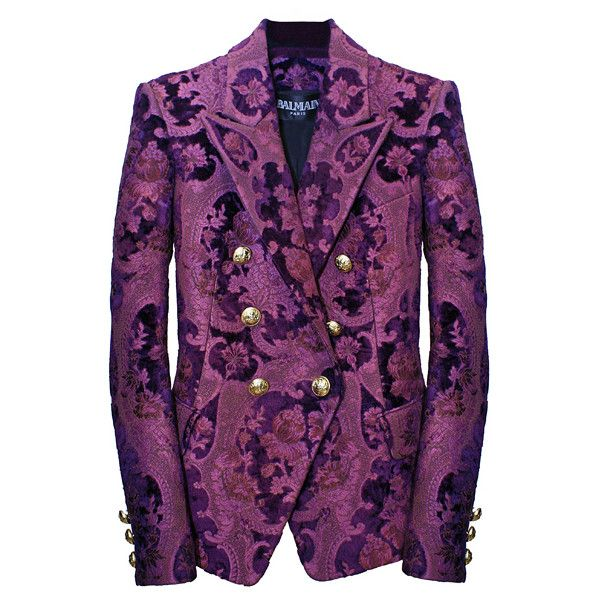 Purple Brocade Jacket | Clothes, Clothes design, Fashion