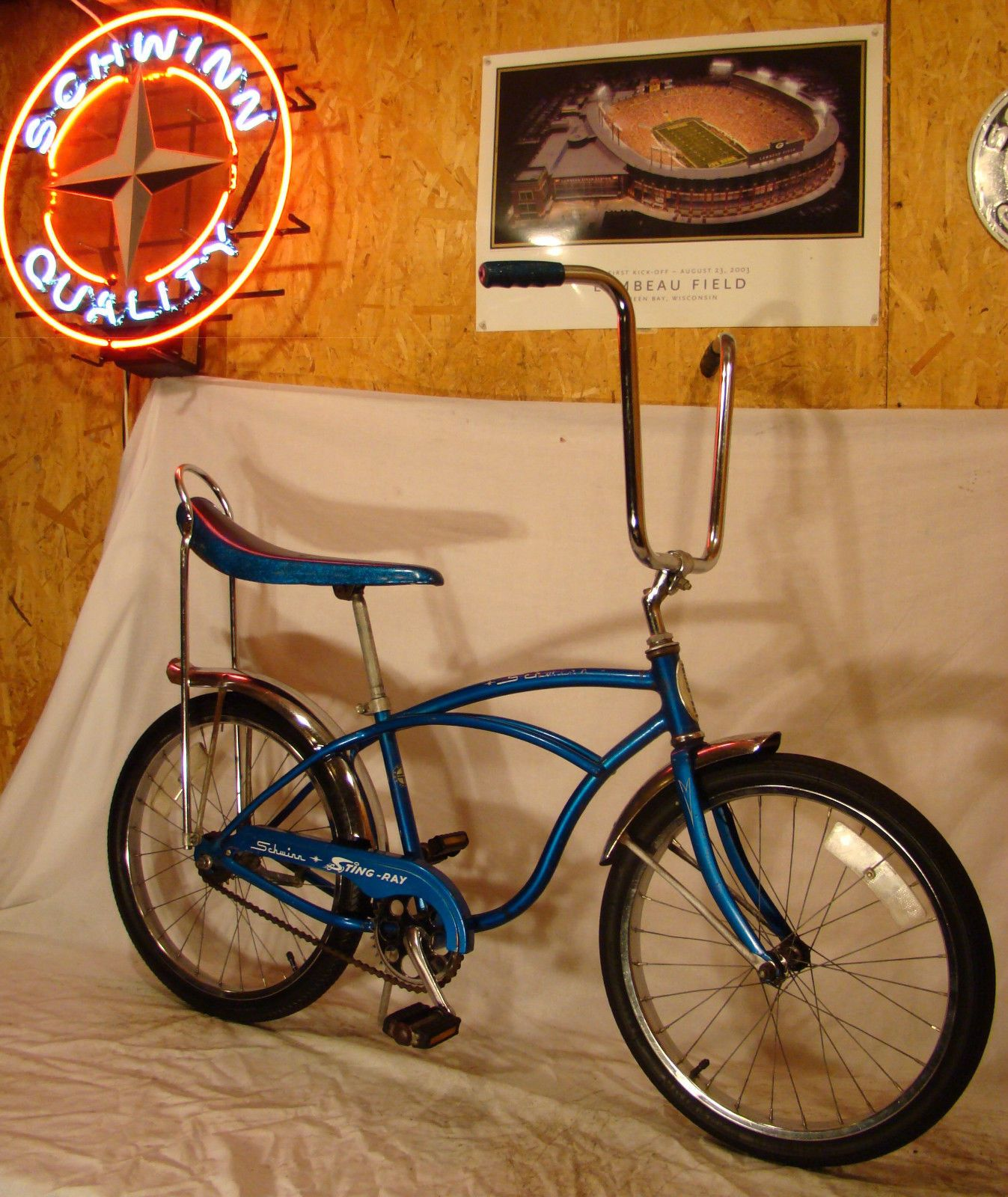 024481db3de 1976 SCHWINN STINGRAY BOYS BLUE BANANA SEAT MUSCLE BICYCLE VINTAGE S7! |  eBay
