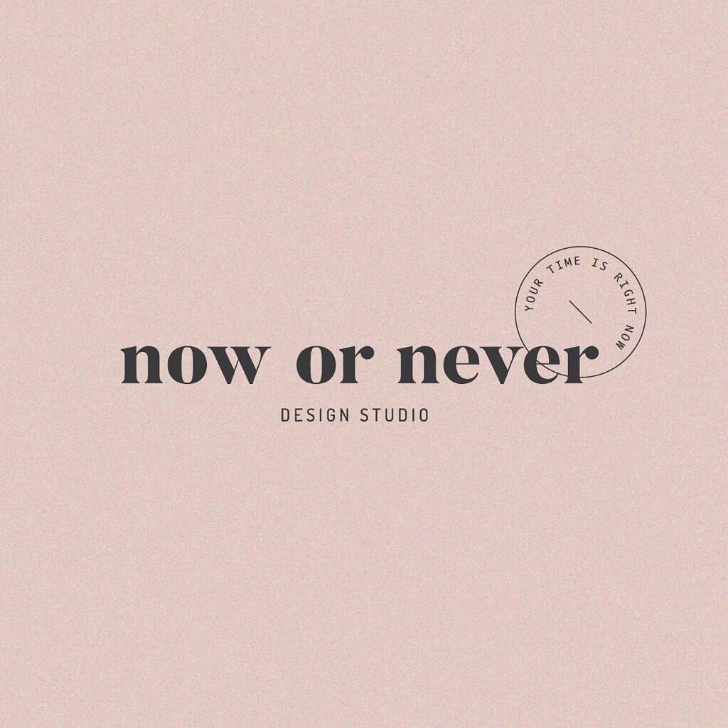 Now Or Never Design Logo Design Studio Logo Graphic Design Logo