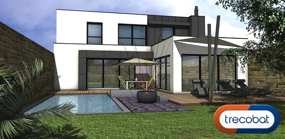 L\u0027avant-projet de la semaine de #trecobat ! Une maison individuelle - Plan De Construction D Une Maison