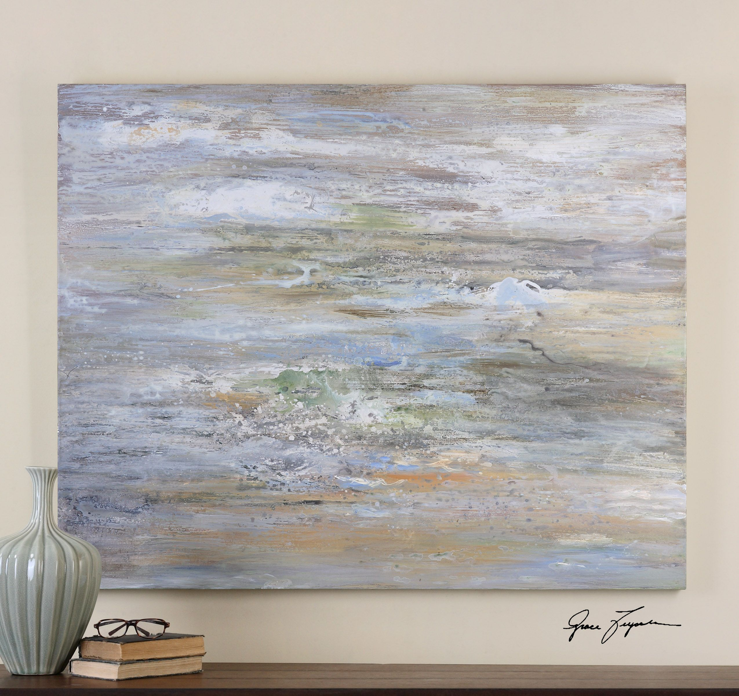 Uttermost misty morning hand painted art rustic romance master