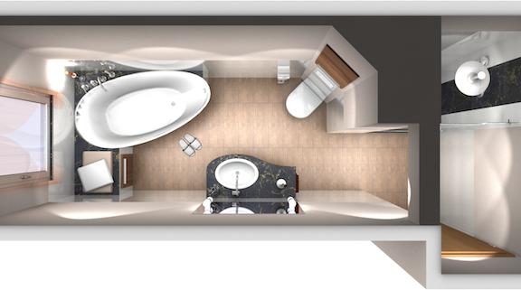 Draufsicht badgestaltung ez az in 2019 for Badezimmer ideen 9qm