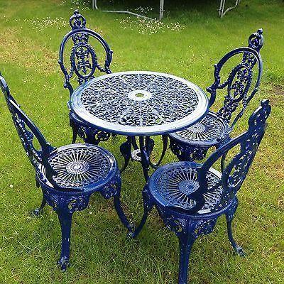 Cast Iron Table / Garden Chair Set | eBay # ...