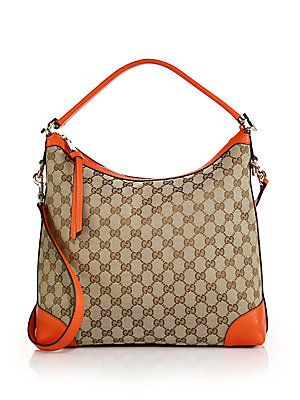 916eac9ec1f12c Gucci Miss GG Small Original GG Canvas Hobo Bag | Designer Handbags ...