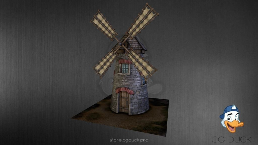 Medieval Windmill by cg_duck