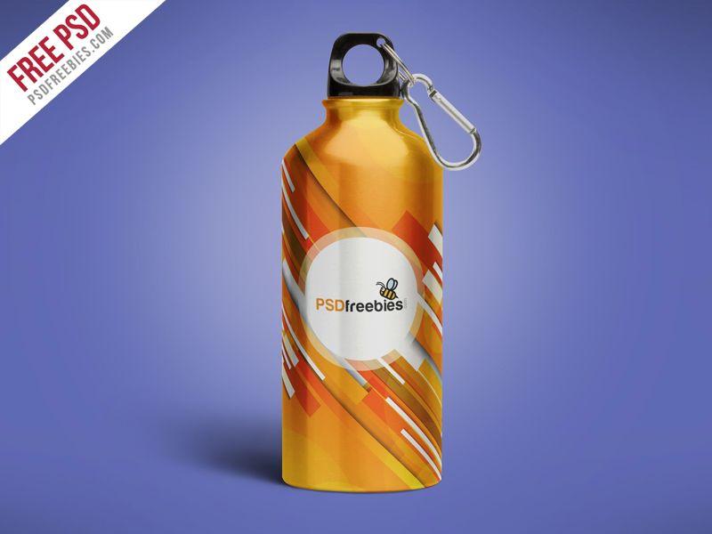 Download Aluminum Water Bottle Mockup Free Psd Psdfreebies Com Bottle Mockup Aluminum Water Bottles Mockup Free Psd
