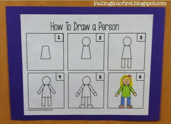 How To Draw A Person For Kindergarten Writing Kindergarten Writing Kindergarten Art Directed Drawing