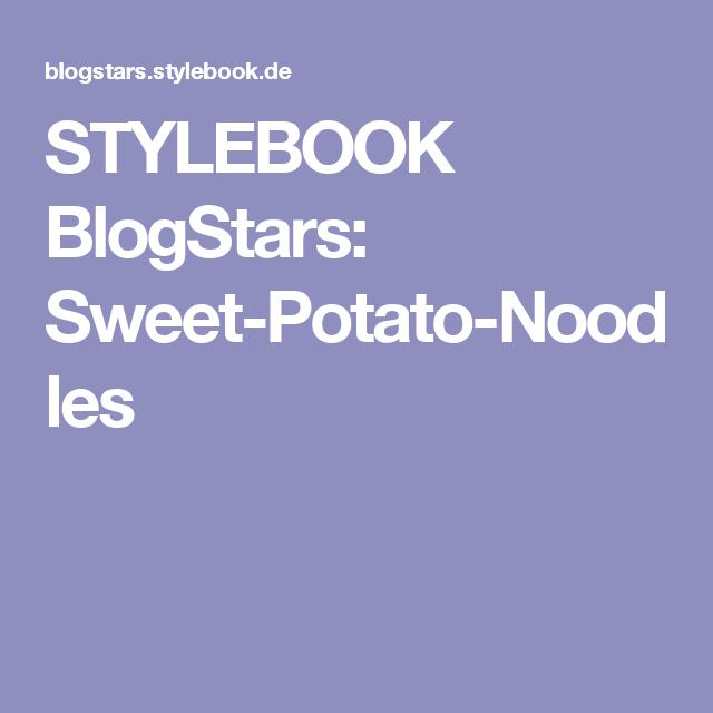STYLEBOOK BlogStars: Sweet-Potato-Noodles
