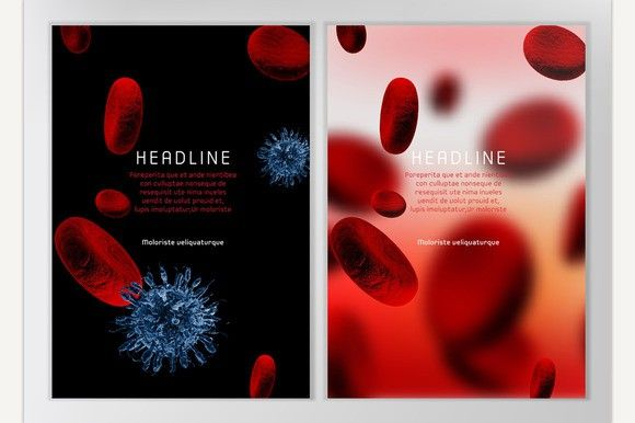 Blood Cell Brochures Medical Infographic $500 Medical