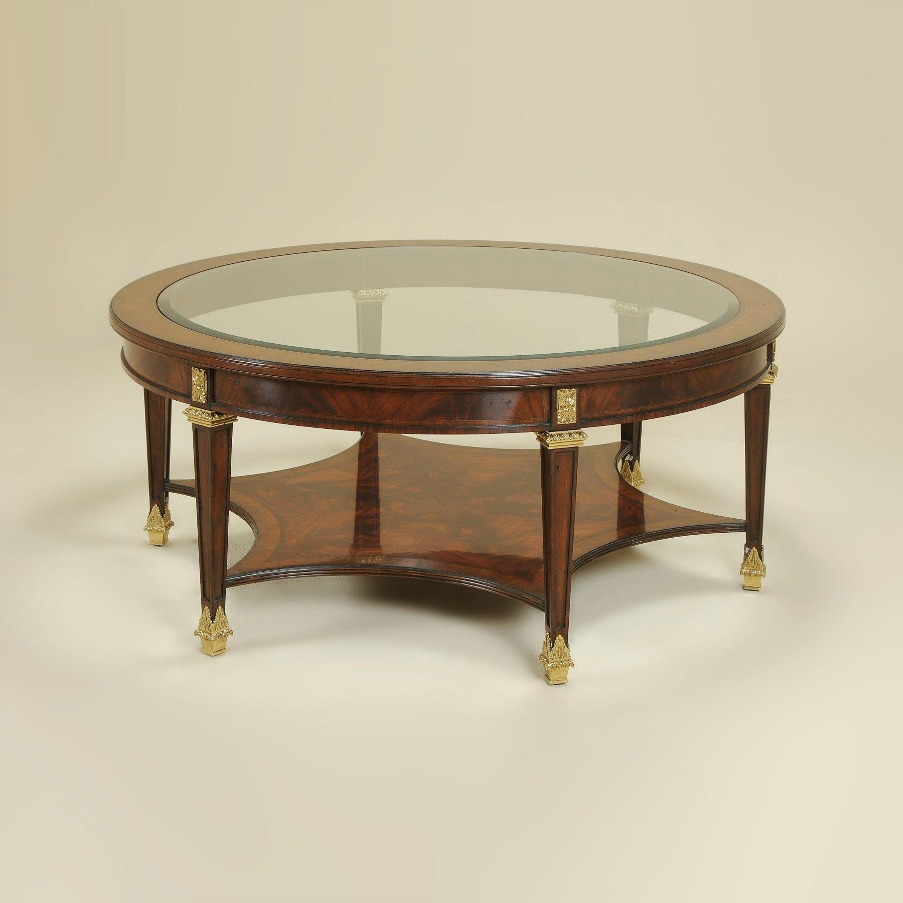Corsair Mahogany Finished Cocktail Table With Beveled