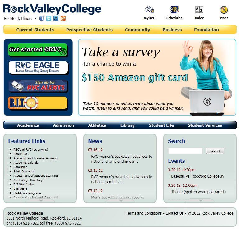 Rock Valley College Valley college, College, Community