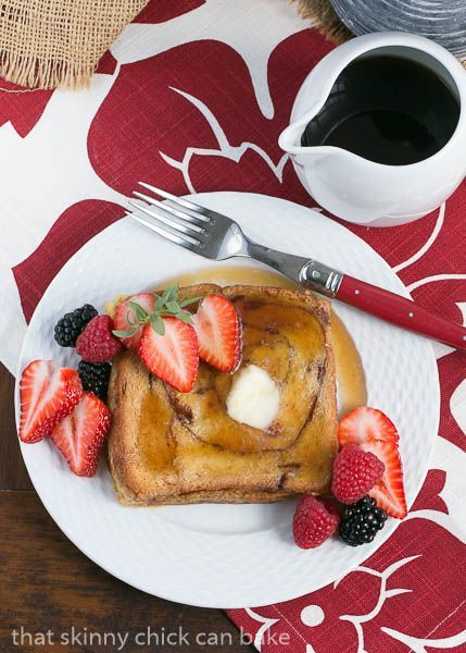Cinnamon Bread French Toast    A make ahead breakfast or brunch dish that's marvelous served with berries and syrup