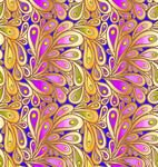 Doodle Gradient Peacock Feathers Pattern With A Frame on ...