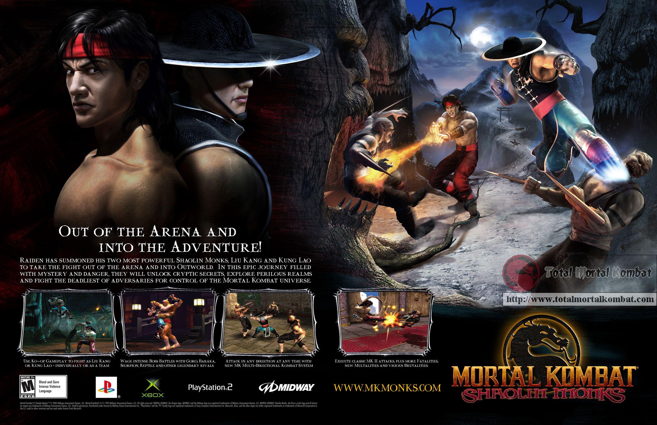 Mortal Kombat Shaolin Monks Shaolin Monks Mortal Kombat Shaolin Monks Shaolin