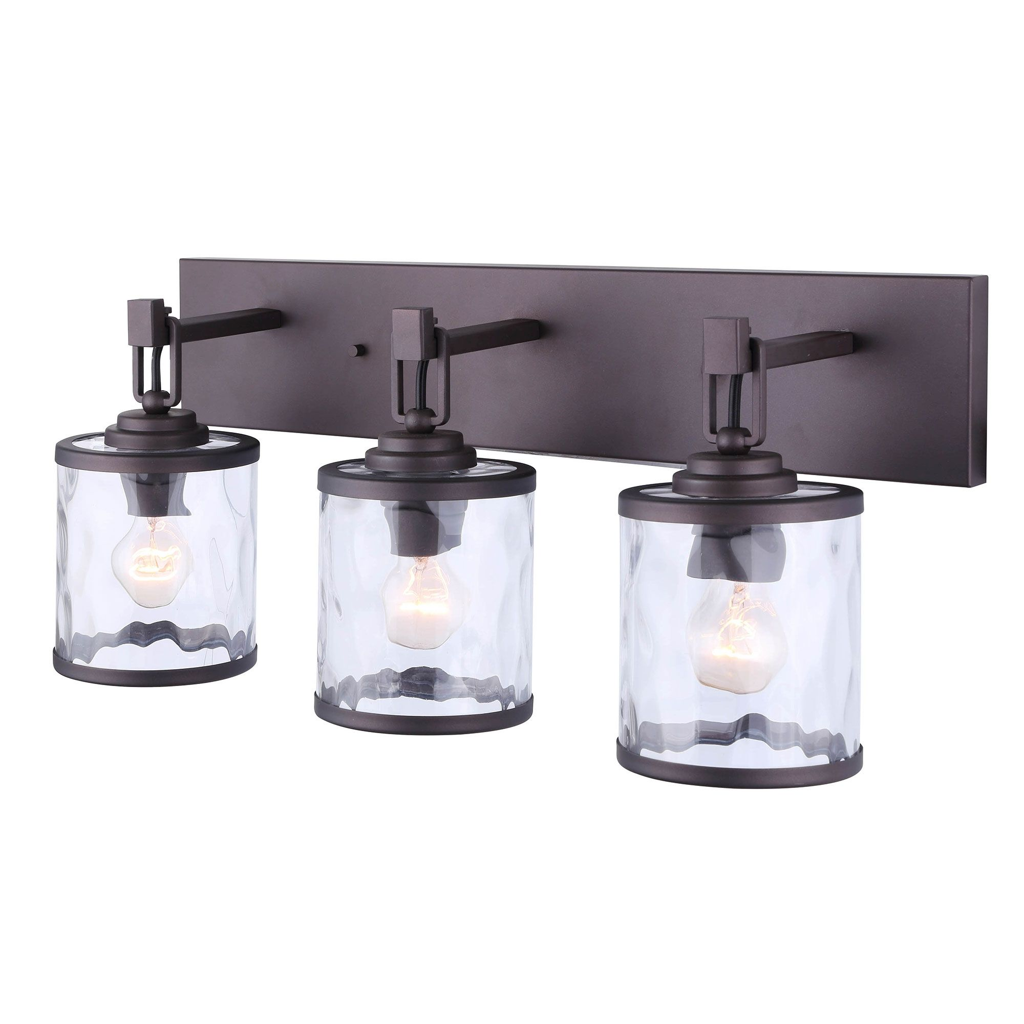 Photo of CANARM IVL677A03ORB Cala 3 Light Vanity, bronze