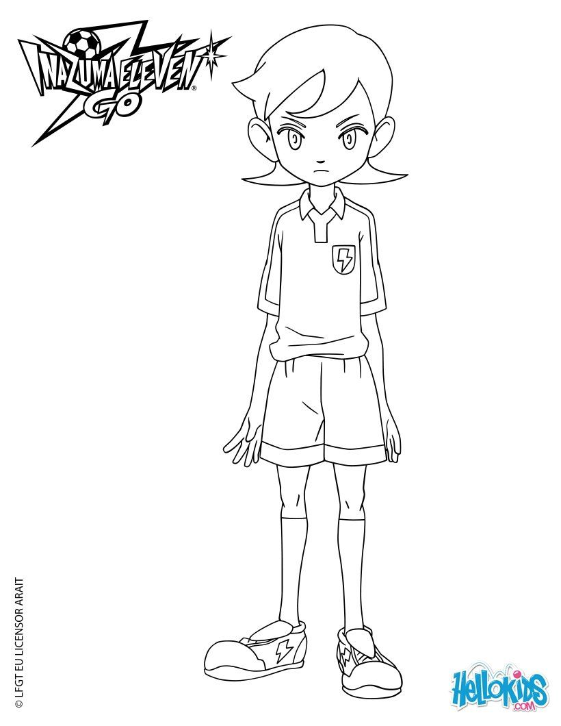 Inazuma eleven colouring pages page 2 - Aoyama Shunsuke Coloring Page More Tv Series Coloring Sheets On Hellokids Com