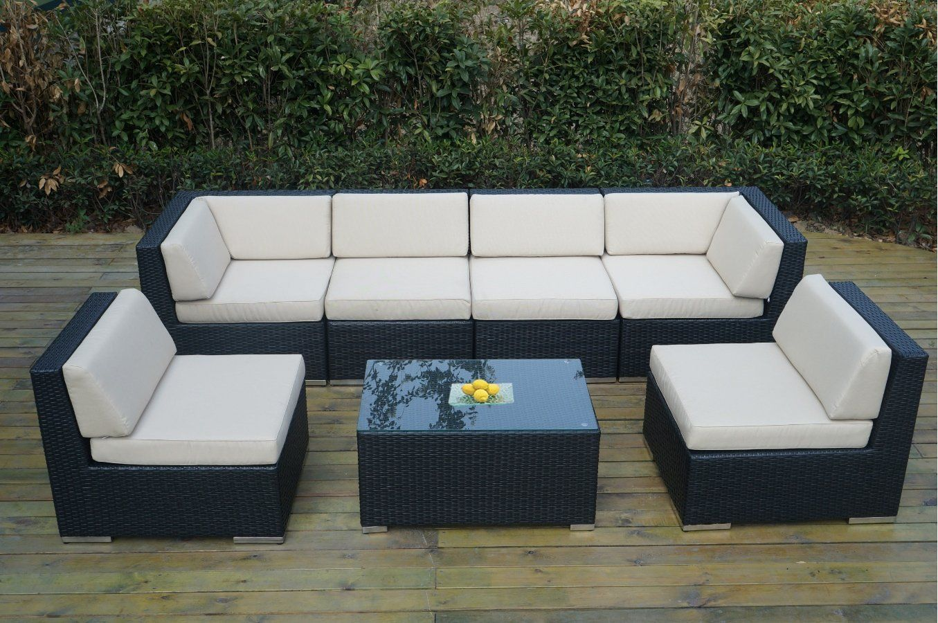 Amazon Com Genuine Ohana Outdoor Sectional Sofa And Dining Wicker