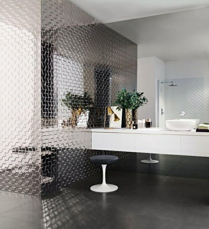 wanddeko badezimmer wandgestaltung wandpaneel wandpaneel 3d - badezimmer l form