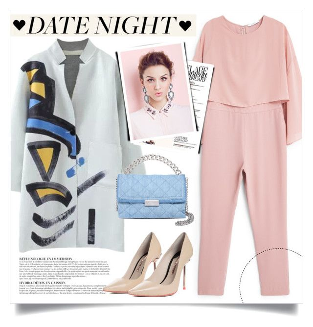 """""""Date Night"""" by gooroo ❤ liked on Polyvore featuring MANGO, STELLA McCARTNEY, Anja, Sophia Webster, DateNight, contestentry, polyvoreeditorial and polyvorecontest"""