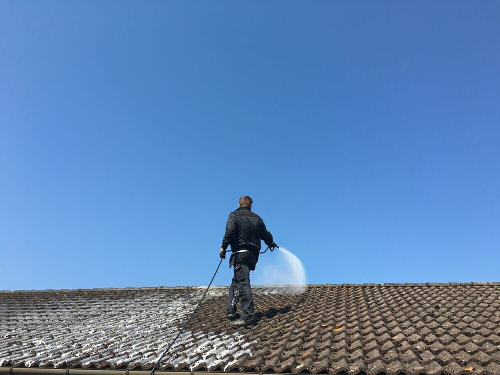 Tile Roof Cleaning Products In 2020 Cleaning Mold Roof Cleaning Roof Restoration