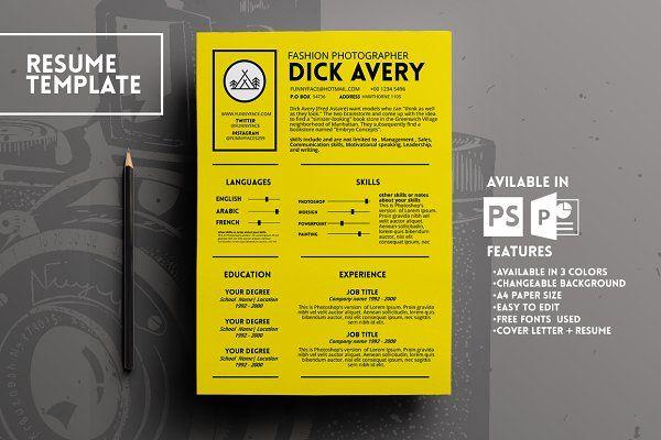 Avery Resume Template CV Design #Resume #Job #Search Pinterest