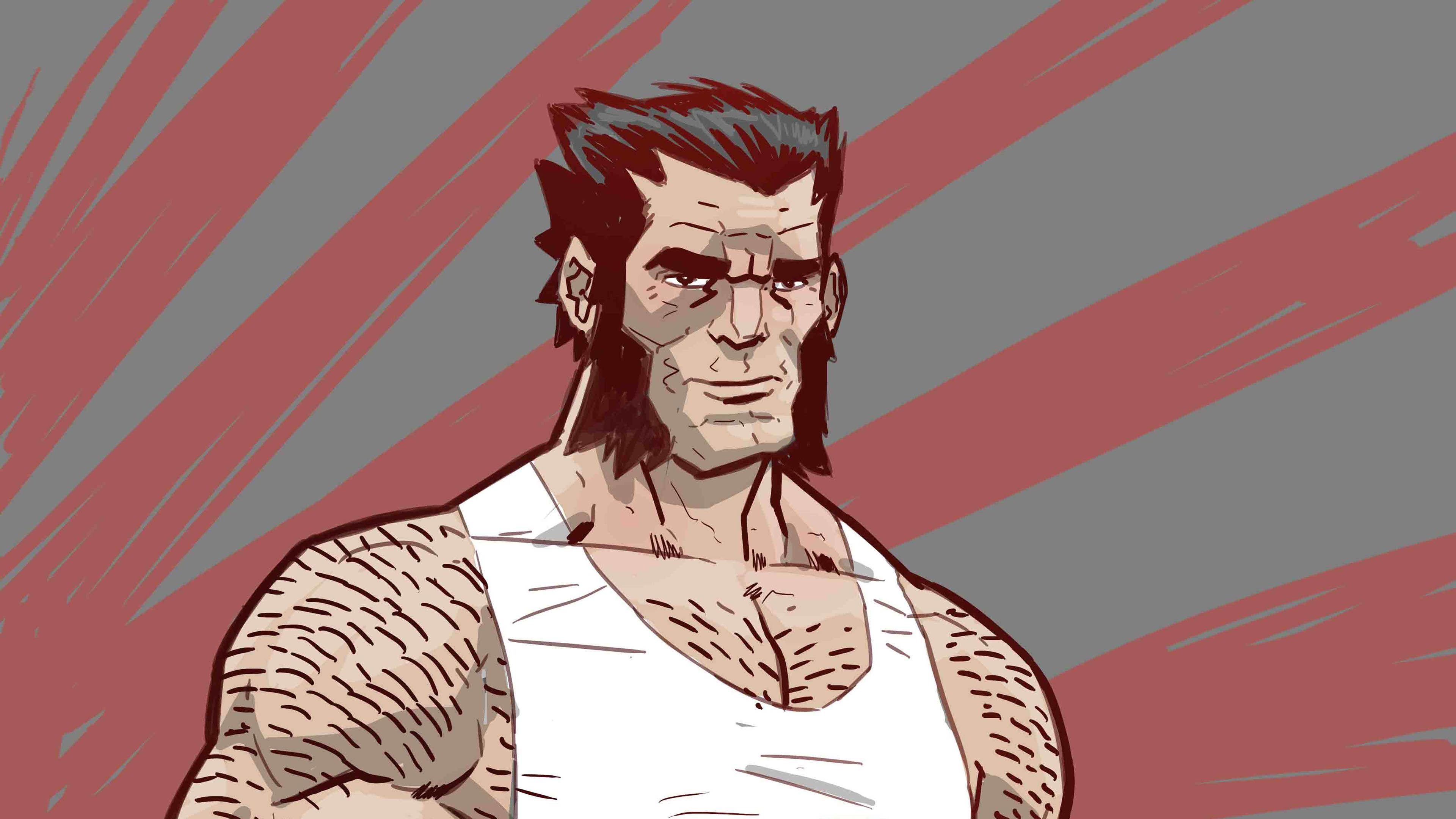 Wolverine Illustration Drawing Wolverine Wallpapers Superheroes Wallpapers Hd Wallpapers Behance Wallpapers 4k Wallpap Drawings Illustration Hero Wallpaper