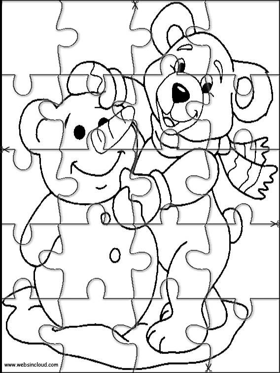 Printable jigsaw puzzles to cut out for kids Animals 223