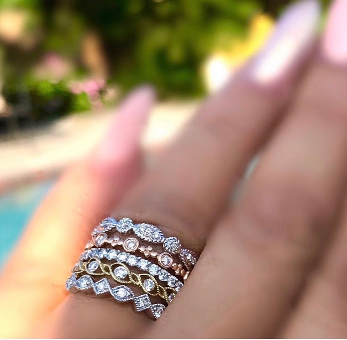 Fun, fashionable stacking rings to personalize your look. Wear as ...