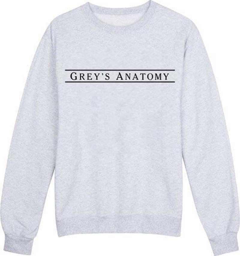 Buy Greys Anatomy Letter Print 2016 Women Sportswear Hoodies Loose