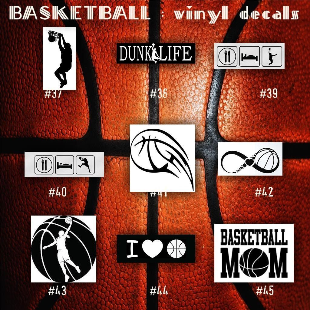 BASKETBALL Vinyl Decals Bball Stickers Hoops Car Decal - Personalized window decals for cars