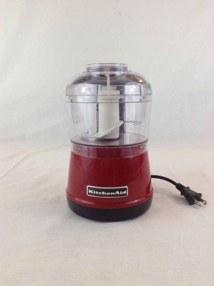 Red Kitchen Aid 3.5 Cup Model KFC3522QER Works/Tested Mini Food Processor  Prep