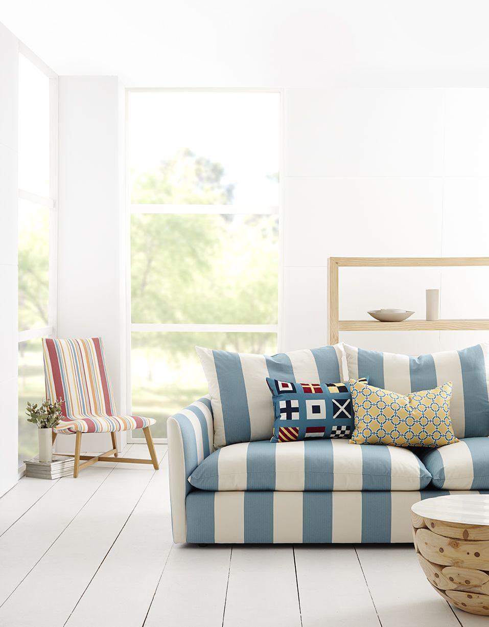 Maritime Collection, Warwick Fabrics / Sofa Upholstery / Cushions / Coastal  #warwickfabrics