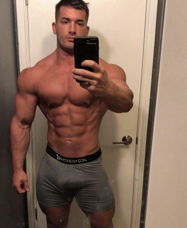 Muscle men selfies