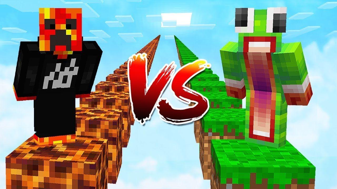 PRESTONPLAYZ vs UNSPEAKABLEGAMING! (122v122 Minecraft Parkour Race) in