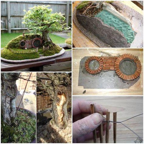 Learn To Make Miniature Hobbit House Miniature Fairy Gardens Hobbit Garden Fairy Garden Accessories