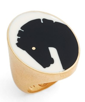 Women's Tory Burch Horse Head Ring